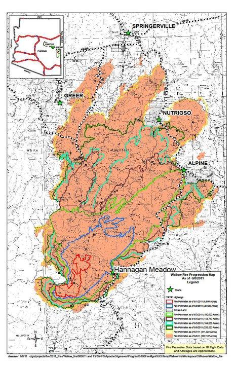 Wallow Fire Map | World Map Interactive
