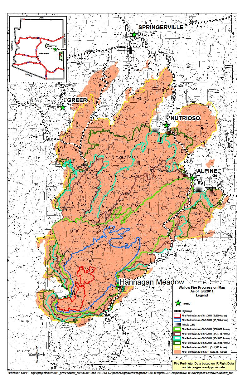Wallow Fire Map | NM Fire Info
