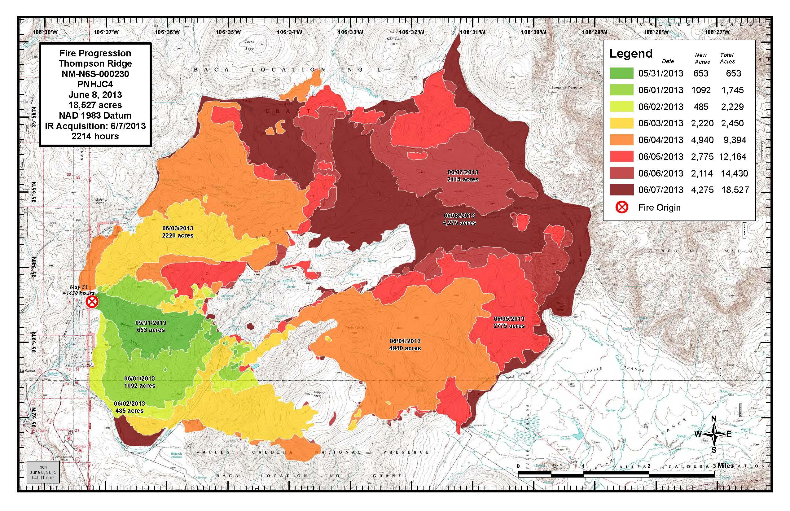 June 8 Thompson Ridge Progression Map | NM Fire Info