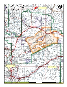 Vicinity map of planned prescribed fire projects
