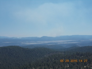 View of Spur Fire from the Fox Mtn Lookout