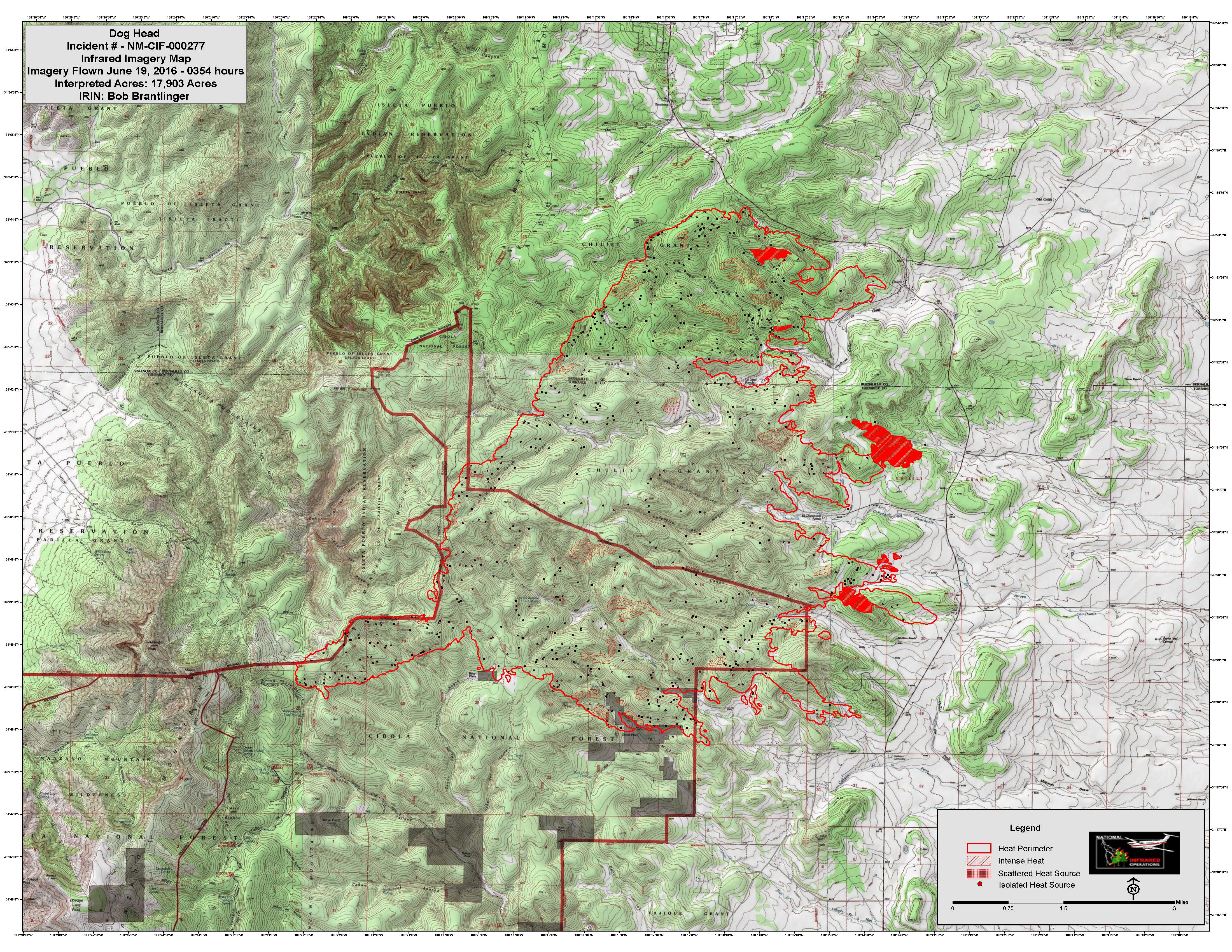 Dog Head Fire Incident Maps June 19th | NM Fire Info