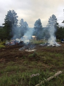 Rx Fire Operations - Slash Pile behind Smokey Bear Ranger Station