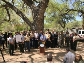 Wildfire and emergency management officials kick off Wildfire Awareness Week.