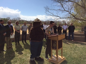 Eagle Scout Candidate Cody Crane reads Wildfire Awareness Week Proclamation