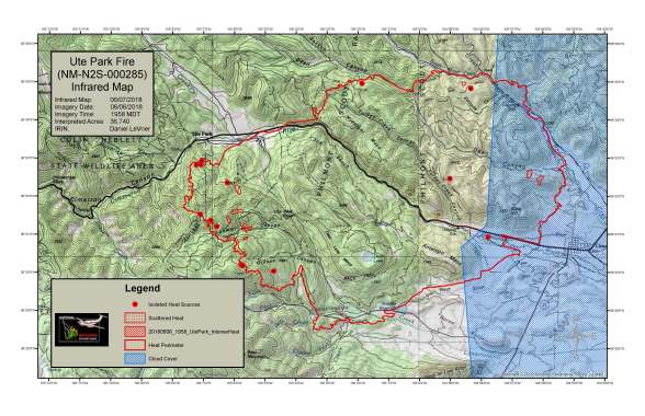Ute Park Fire Infrared Map June 7 | NM Fire Info