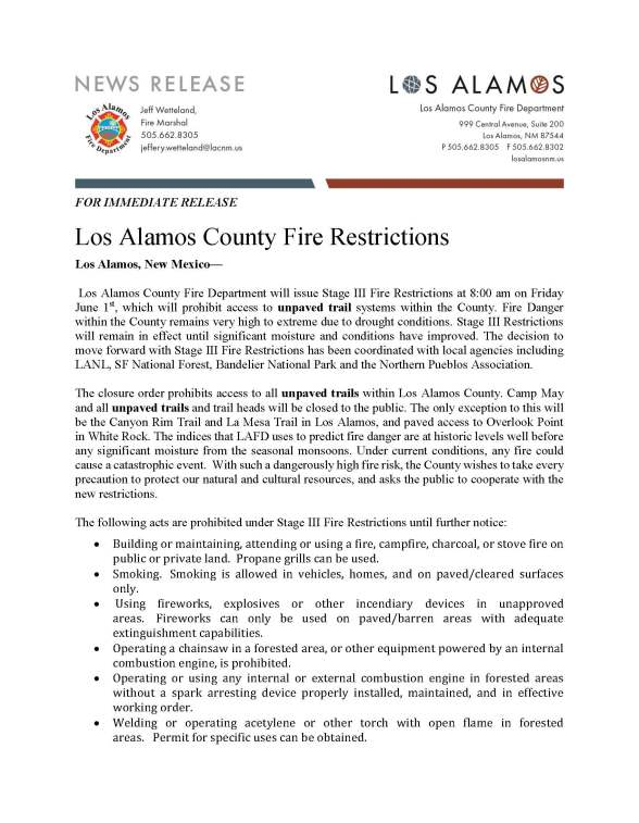 Los Alamos.Stage III Restrictions Press Release_Page_1