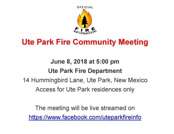 Ute Park Fire Info Flyer_06_08_2018_PubMtg