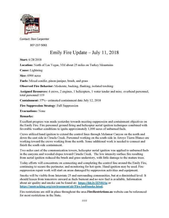 Emily Fire.press release.7-11-2018
