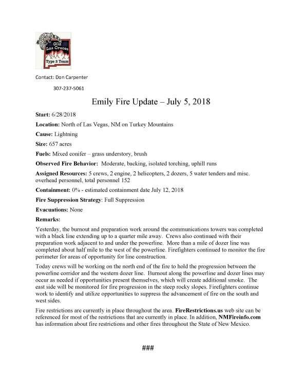 Emily Fire.press release.7-5-2018