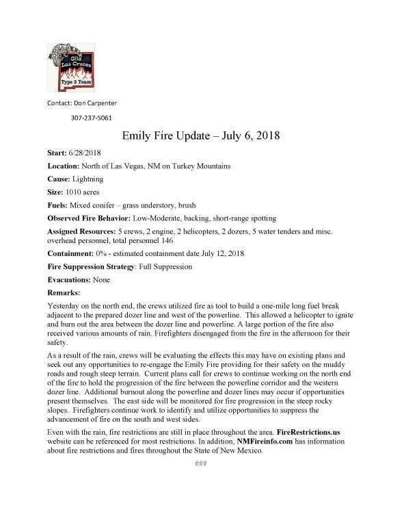 Emily Fire.press release 7-6-2018