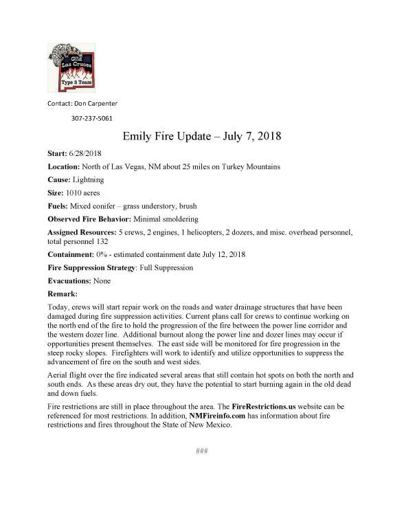 Emily Fire.press release 7-7-2018