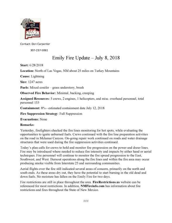 Emily Fire.press release 7-8-2018