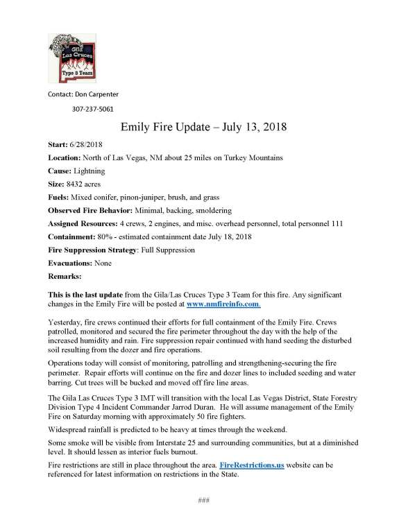 FINAL.Emily Fire.press release.7-13-2018