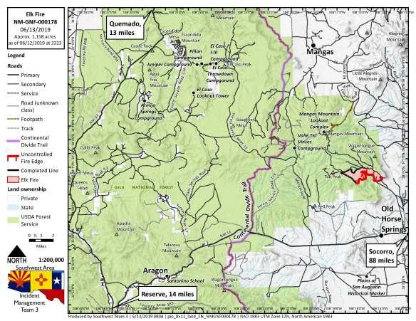 Gila National Forest – Elk Fire June 14, 2019 – Quemado