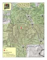 Vicinity map of the Poso Fire